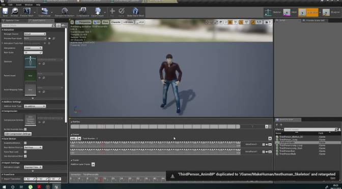 Unreal Engine 4 et MakeHuman