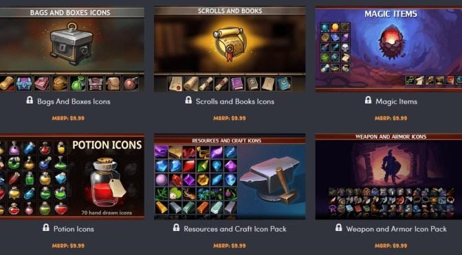 Pack de 7000 icones pour vos jeux vidéos