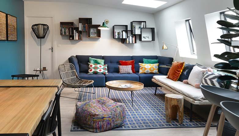 projet de decoration d interieur d un salon design et contemporain realise a paris