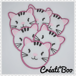 Lingettes lavable chat Rose