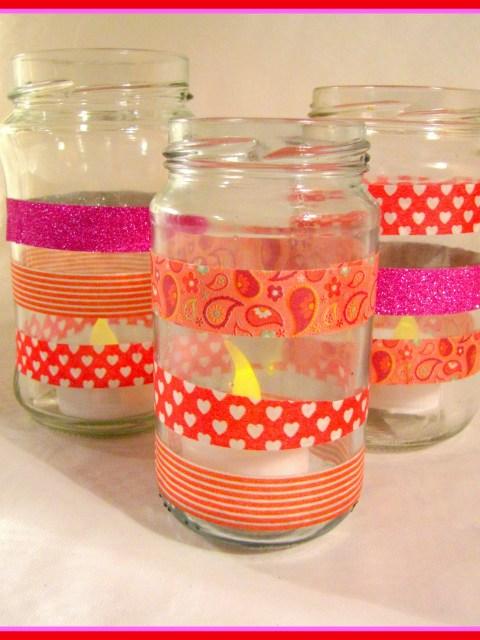 Glazen potjes met tape - Creatief en Simpel - Download de gratis werkbeschrijving op onze site