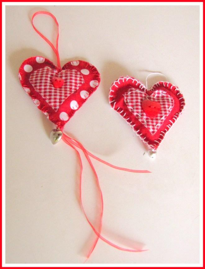 Stoffen hartjes, eenvoudig zelf te maken - Creatief en Simpel - Ga naar onze site voor de uitleg en nog meer leuke ideeen