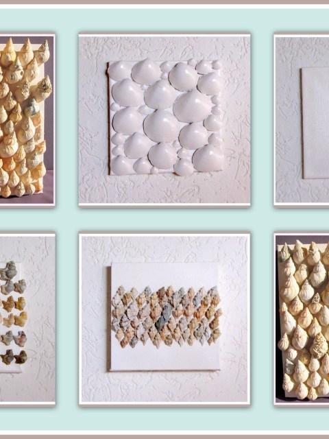 Schilderij met schelpen - Creatief en Simpel - Ga naar onze site voor meer foto's en uitleg en voor nog meer leuke en simpele ideeen om zelf te maken.