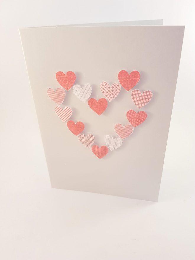 Heel veel hartjeskaarten - Creatief en Simpel - Ga naar onze site voor de werkbeschrijving en nog meer leuke ideeen om zelf te maken.