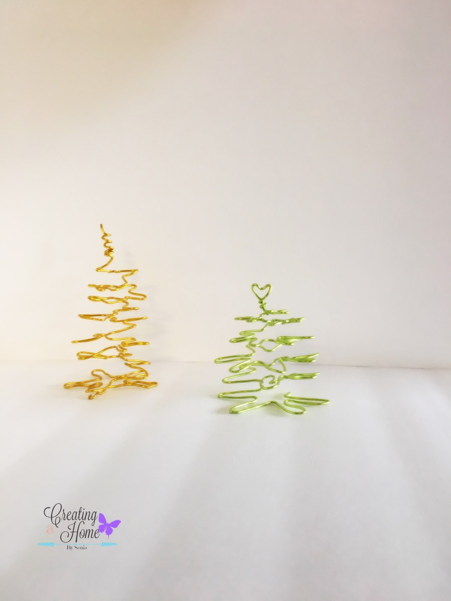 Wire Christmas Trees 🎄 - Creating a Home By Sonia