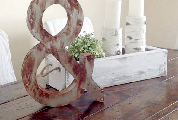 "DIY Weathered ""Metal"" 3D Letters"