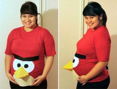 DIY pregnant costume