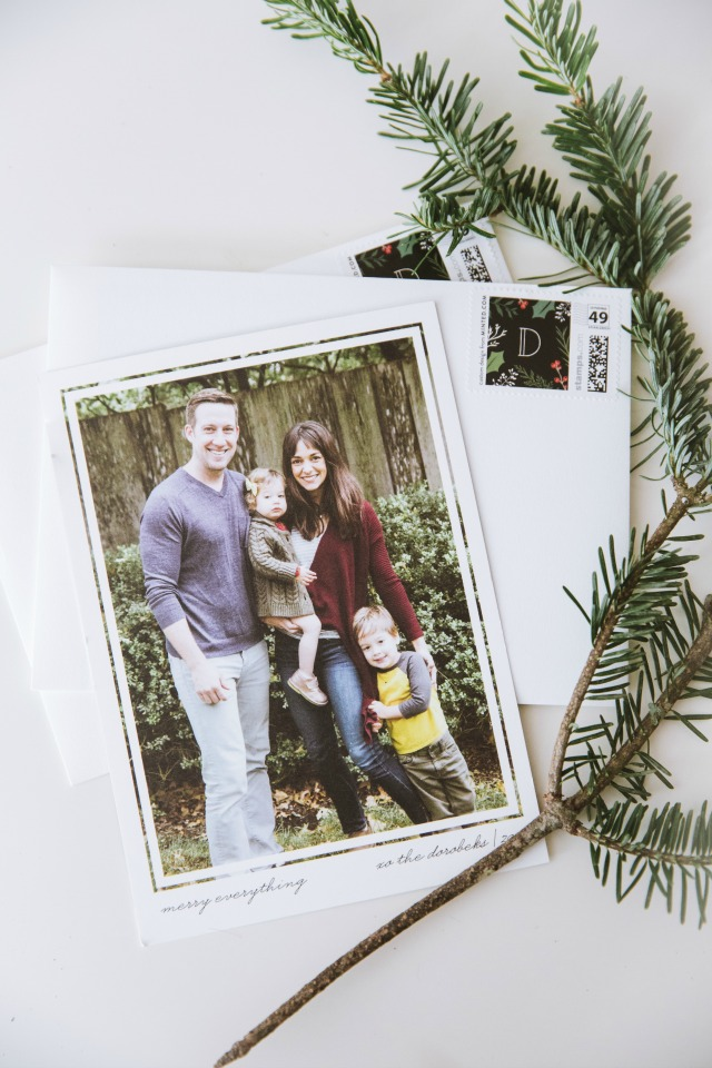 Our First Married Christmas Holiday Cards
