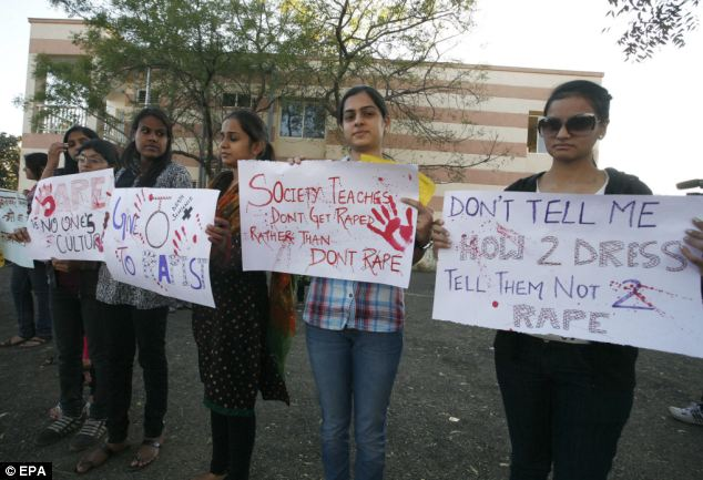 Indian rape demonstrations