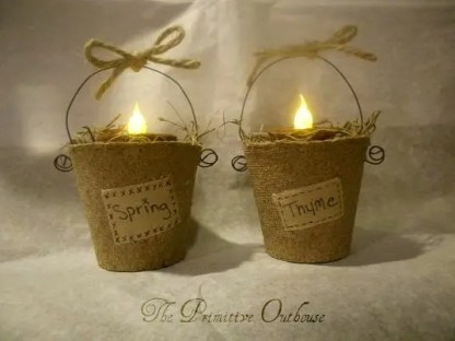 Peat Pot Candle Holders