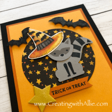 Learn how to make a quick and easy Halloween card