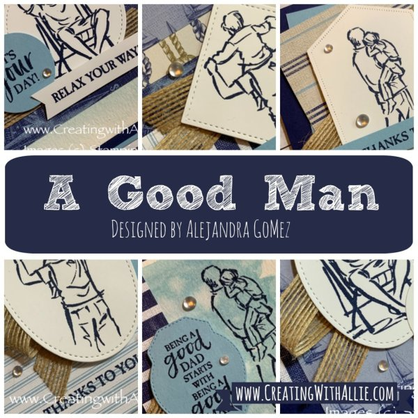 """Learn how to make Masculine cards with the """"A Good Man"""" card class"""