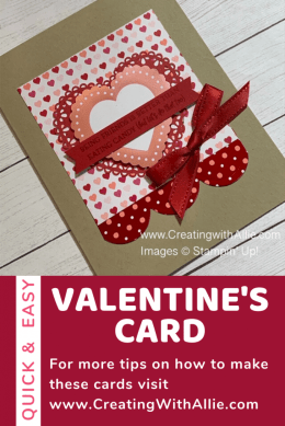Valentine's card using Heartfelt bundle from Stampin' Up!