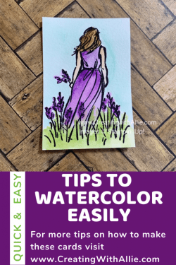 Learn how to watercolor with an easy technique!