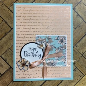 How to make Birthday handmade cards using patterned paper