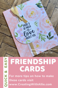Easy friendship cards using patterned paper