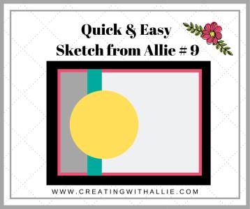 Easy sketch to make handmade cards