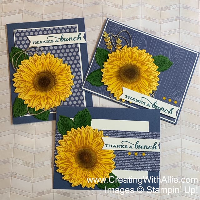 Three Easy Thank you cards to make
