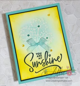 Learn two sponging techniques for handmade cards
