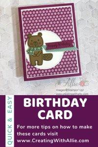 Handmade Birthday Card for a Friend