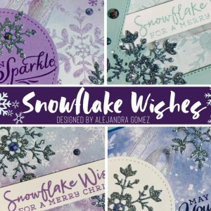 Snowflake Wishes - Christmas Card Class # 3