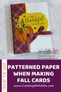 Easy Fall cards using designer series paper