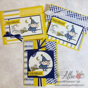Non-traditional patterned paper for Easy Halloween cards to make