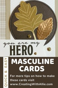 Easy Masculine card to make