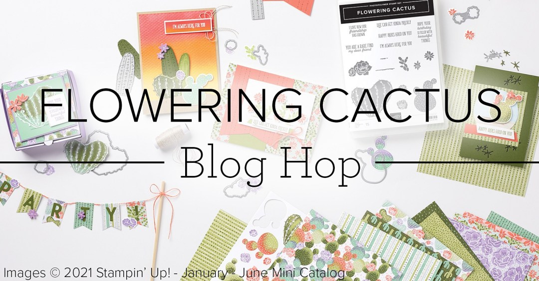 Flowering Cactus blog hop banner
