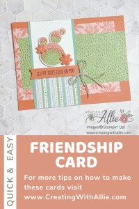 Cheerful Friendship handmade card using the Flowering Cactus Product Medley