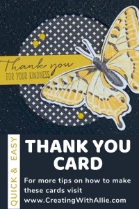 Learn how to make a Thank you handmade cards using the Butterfly Bijou