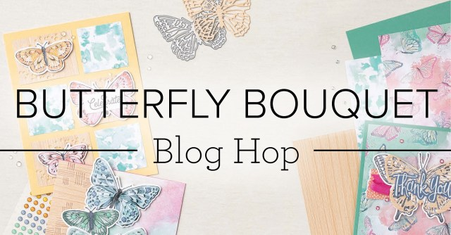 Butterfly Bouquet blog hop banner