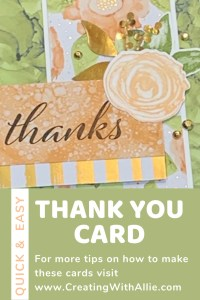 Easy Thank You card using the Expressions in Ink suite collection from Stampin' Up!