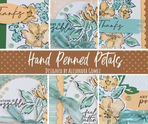 Hand Penned Petal card class
