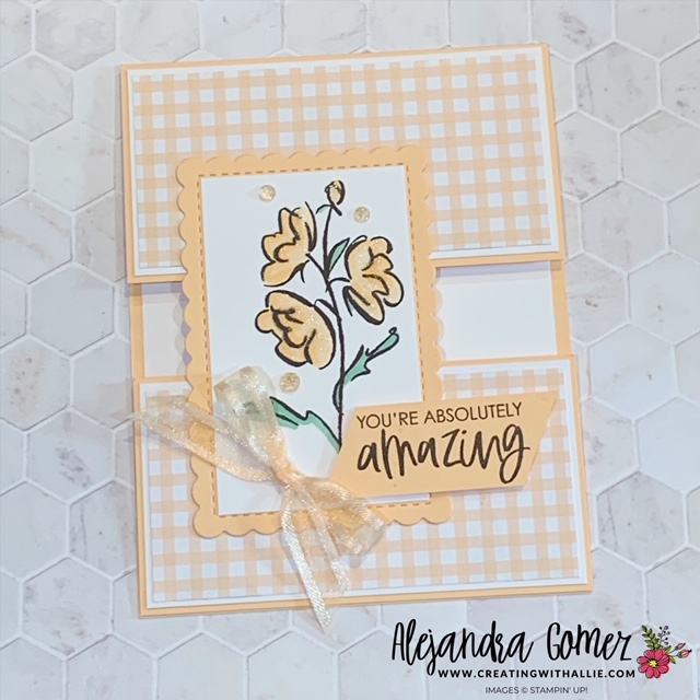 Learn how to make an easy fun fold with the Color & Contour Bundle from Stampin' Up!