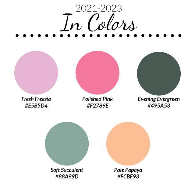 2021-2023 In Color chart from Stampin' Up!