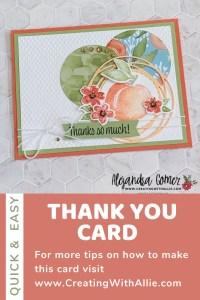 Thank you card using Sweet as a Peach Bundle