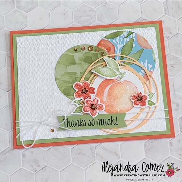 how to use an sketch for card making. this card features the You're a Peach suite from Stampin' Up!