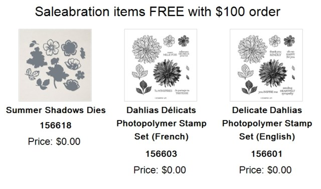 FREE Saleabration items with $100 purchase