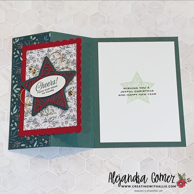 Learn how to make an easy Christmas card using the Tidings of Christmas suite from Stampin' Up!