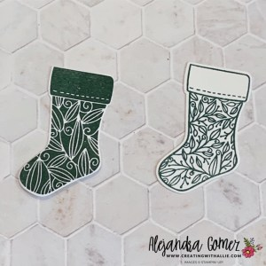 cut the top of the stocking and add it to the other stocking to get a different look
