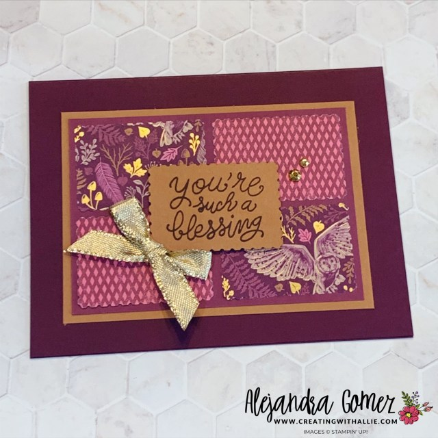 Using patterned paper scraps in your cards