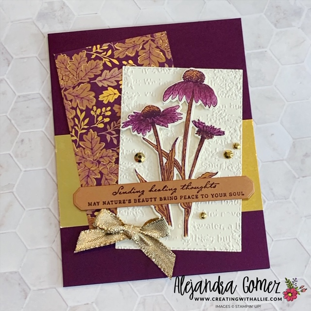 How to make a thinking of you card using the Nature's Harvest Bundle