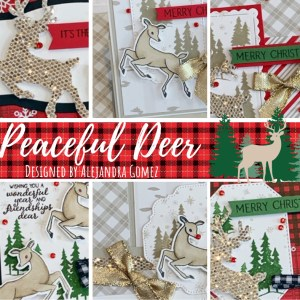 Get the Peaceful Deer Card Class,, which features 6 gorgeous Christmas Cards that you will love to make