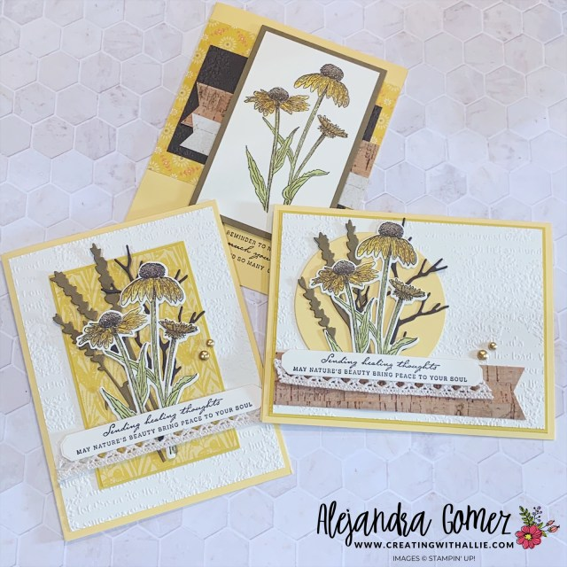 How to make three fall cards using the Harvest Meadow Suite from Stampin' Up!