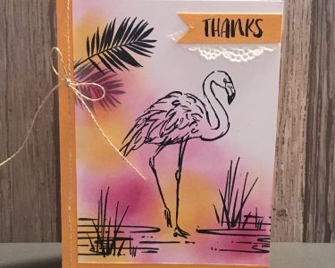 Fabulous Flamingo SunsetThank You Card