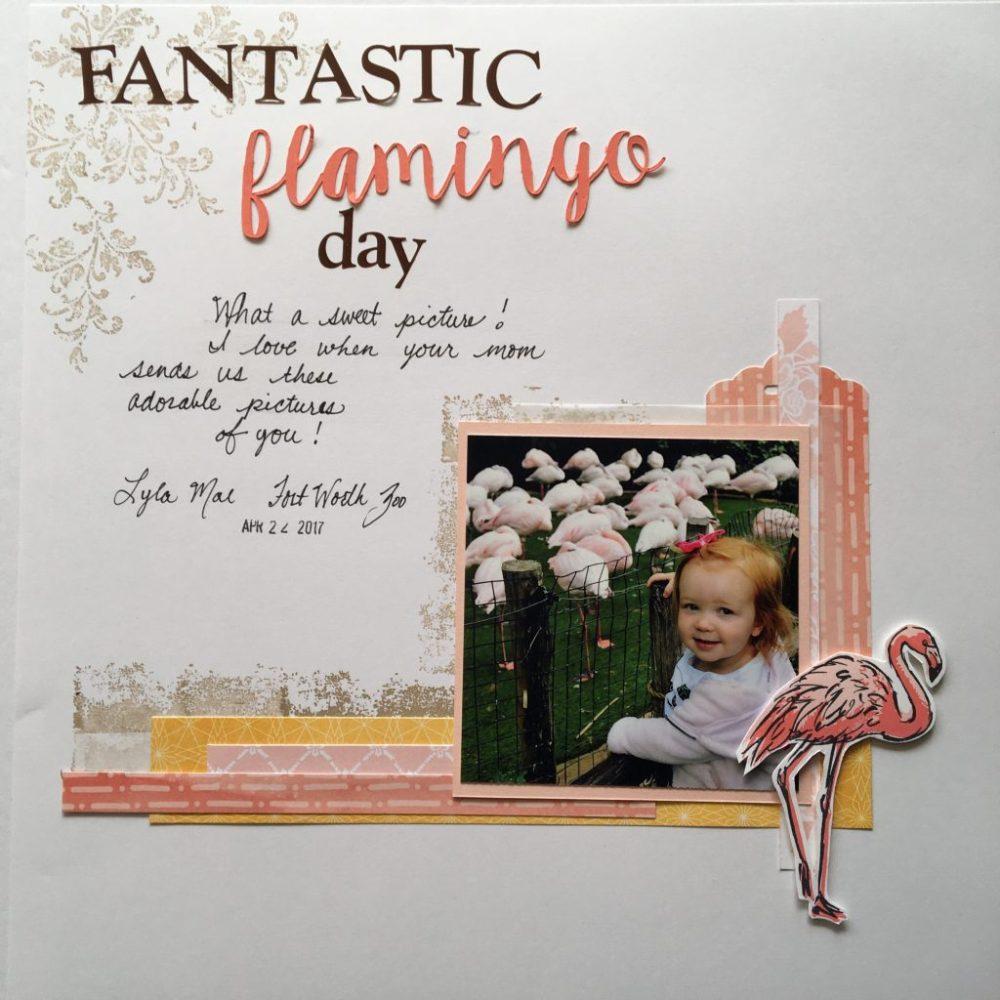 Fabulous Flamingo Scrapbook Page