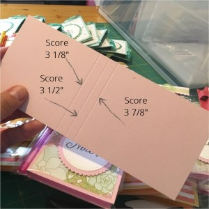 Post it Note Holder Instructions Score Marks