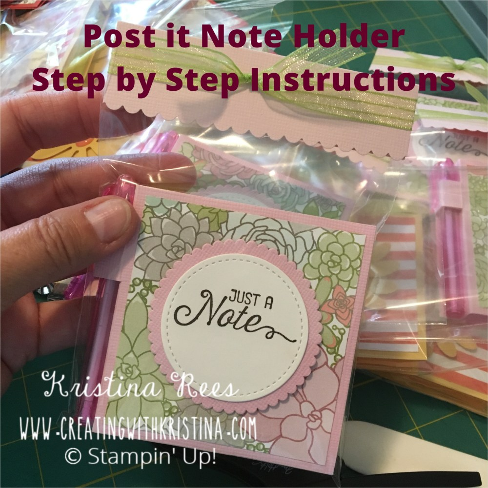 Post it Note Holder Instructions Title