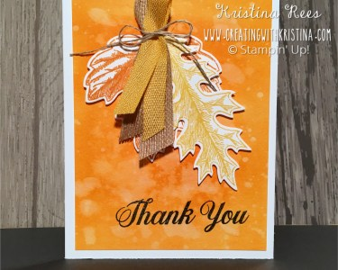 Vintage Leaves Watercolor Background Thank You Card